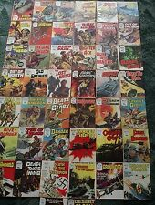 44 X BATTLE PICTURE LIBRARY WAR COMICS,JOB LOT COLLECTION,1971-1984
