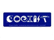 MS243 Sci-Fi Coexist Mini Bumper Sticker // Star Wars, Dr Who, Star Trek