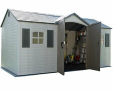 Lifetime 6446 15-by-8 Foot Outdoor Storage Shed with Shutters Windows and Sky...