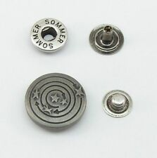 10 Boutons pression Bouton pression 20mm argent vieilli inoxydable 07.47