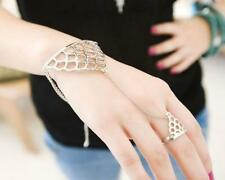 Fashion Women Triangle Hand Bracelet Finger Ring Bangle Slave Chain New Cheap