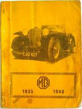 MG 1935-1940 R M CLARKE CAR BOOK