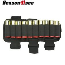 10Round Ammo Shotgun 12/20 GA Shell Buttstock Holder Armband Cartridge Carrier
