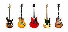 Five Famous Blues-Rock Guitars Greeting Card, DL size