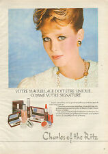 Publicité Advertising 1983  Charles of the Ritz Maquillage professionnel