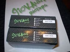 GIOVANNI GVH -1 CUSTOM HUMBUCKER PICKUP SET (NECK/BRIDGE) NICKEL FINISH NICE!