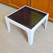 table basse carré plastique vintage année 70 design 1970 PRISUNIC