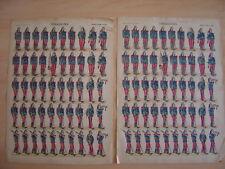 Lot de 2 images d'EPINAL  DRAGONS Dragon Armée française  Planches numéro 190