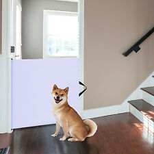 Baby Kids Pet Safety Gate Retractable Dog Barrier Folding Doorway Stair Guard