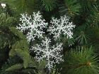 6CM 30pcs White Snowflake Ornaments Christmas Tree Decorations Festival Decor