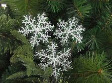 30pcs White Snowflake Ornaments Christmas Tree Decorations Festival 6cm Auction
