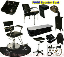 Salon Barber Chair Mat Tray Hair Dryer Wall Mount Station Shampoo Bowl Equipment