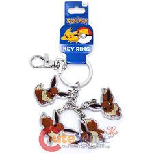 Pokemon Eevee Key Chain Multi Eevee Metal Key Holder Nintendo Key Ring