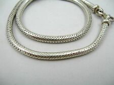 Sterling 925 Silver Snake Chain Choker Collar Necklace Bali Tribal Style NGS326