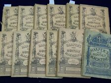 1892 HARPER'S MONTHLY MAGAZINE LOT 12 COMPLETE YEAR - C.D. GIBSON IILUS - WR 247