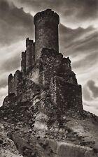 1922 Vintage SPAIN Valladolid Penafiel Castle Stone Architecture Art ~ HIELSCHER