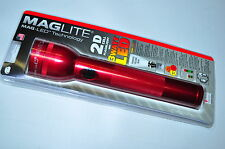 Maglite® ST2D036 LED FLASH LIGHT 2 CELL D  Made in USA - Red- NEW IN PACKAGE