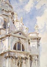 Singer Sargent Watercolor Reproductions: La Salute, #2, Venice: Fine Art Print
