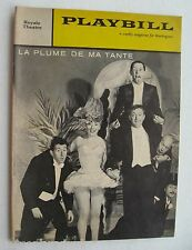 Playbill For La Plume De Ma Tante Robert Dhery 1960