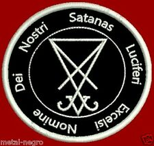 LUCIFER EXCELSI EMBROIDER PATCH OCCULTISM LUCIFER SATAN PAGANISM Metal Negro 666