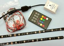 FOOTWELL SOUND MUSIC SENSOR RGB LIGHT KIT - 2 x 30CM RGB STRIPS