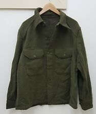Military Issued Wool Shirt-Large