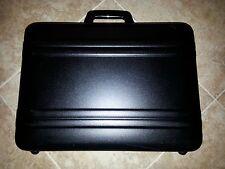 "*** Vintage Zero Halliburton Premier 6"" Black Aluminum Attache Case ***"