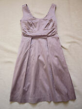 Ann Taylor 1950s style mauve sleeveless party dress w pockets UK 10 Cost £150