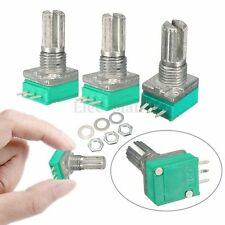 3PCS 6mm B Type 10K Ohm Rotatif Knurled Shaft Potentiomètre Linéaire Unique