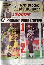 L'Equipe Journal du 29/11/1994; Auriol et Bourgnon/ Mondial 98/ Nantes-PSG