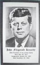 Vintage President John F. Kennedy Prayer Card MINT