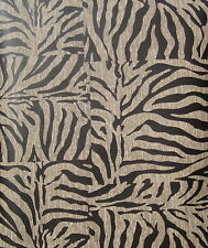 BLACK & BROWN TIGER STRIPE wallpaper DOUBLE ROLL