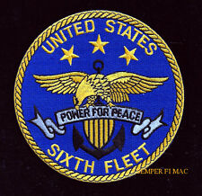 6TH FLEET PATCH SIXTH US NAVY VETERAN OFFICER CHIEF SAILOR GIFT VET USS NS NAVAL
