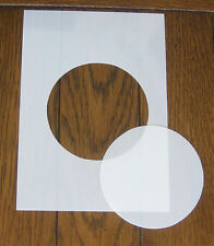 Circle Mask and Aperture Stencil 190 micron mylar for Arts Crafts & DIY