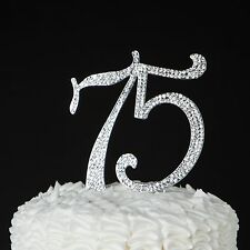 75 Cake Topper - 75th Birthday or Anniversary Decoration Ideas & Party Supplies