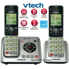Vtech DECT 6.0 2 Cordless Handset Home Telephone Phone System ID CS6629-2