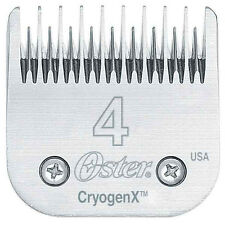 Oster CryogenX  AgION Dog Pet Grooming Steel Clipper Blade Size 4 MADE IN USA