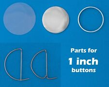 50 Sets of 1 INCH Buttons Badge making parts Mylar Shell & Back Pins Small tags