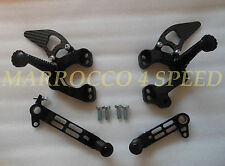 Ducati 748 916 996 998 Alu Fußrasten Set Kit foot pegs rest rests system black
