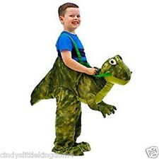 Dinosaur T Rex green unisex kids fancy dress outfit Riding dress up costume 3-7