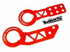 RED F+R VMS RACING PRO SERIES FORGED STEEL TOW HOOKS FOR 96-00 HONDA CIVIC EK