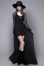 LIP SERVICE black crochet duster HOUSE OF WIDOW goth witchy RARE bnwt S