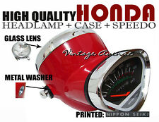 HONDA DAX ST50 ST70 CT50 K0 CT70 K0 HEAD LIGHT+SPEEDOMETER+CASE *RED [V]