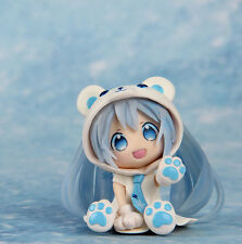"Cute 3"" Snow Miku Polar bear costume ver.  Animation Nendoroid Hatsune Miku Gift"
