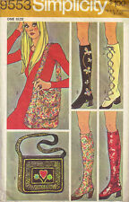 Vintage 60's & & 70's SIMPLICITY 9553  BOOTS/SPATS & BAGS Sewing Pattern