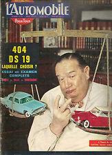 L'AUTOMOBILE 191 1962 ESSAI CITROEN DS 19 PEUGEOT 404 CHAPARRAL CORVETTE MAKO SH