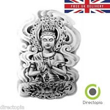 Large Waterproof 3D Buddha Temporary Tattoo Sticker Buddhism Spiritual Art