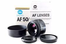 MINOLTA AF 50mm f/1.4 New Version Lens [Near Mint] w/Box from JAPAN