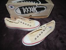 NIB VINTAGE CONVERSE MADE IN USA WHITE ALL STAR CHUCK TAYLOR LOW SIZE 6.5