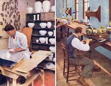 Set of 6 Royal Worcester Porcelain Co. Ltd. Advertising POSTCARDS  Raphael Tuck